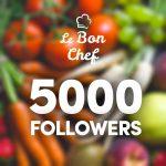Vous tes maintenant 5000 abonns  nous suivre sur Instagramhellip