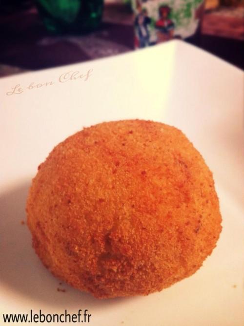 Arancini siciliani recette sicilienne le bon chef - Cuisine sicilienne arancini ...