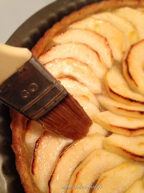 tarte aux pommes avec compote maison le bon chef