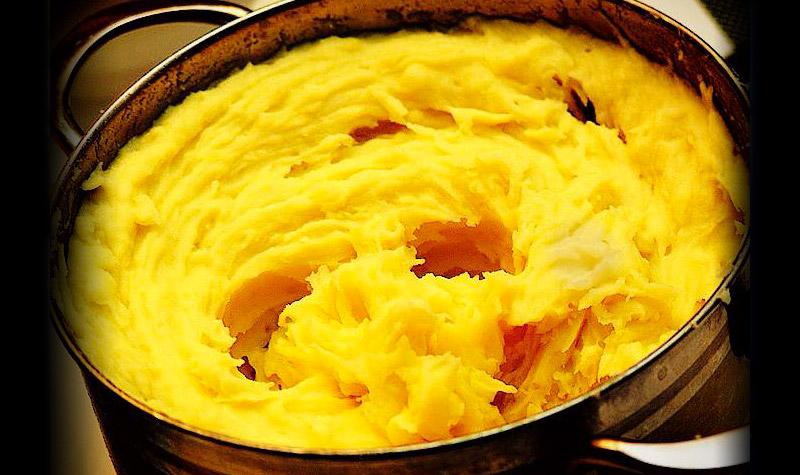 Pur e de pommes de terre avec jaune d uf le bon chef - Puree pomme de terre maison ...