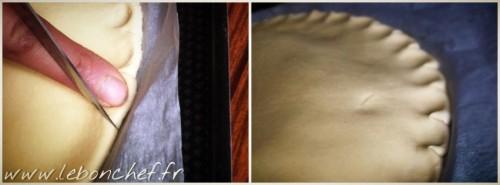 Galette des rois - Le chiquetage des bords permet à la galette des rois de mieux gonfler lors de la cuisson.