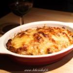 Gratin de poireaux aux lardons - Un plat hivernal qui peut se préparer à l'avance et se réchauffer à la dernière minute.