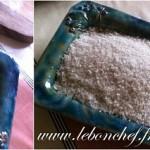 Magret séché aux deux poivres - Mettre un lit de gros sel dessus sur toute la surface du magret.