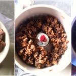 Biscuits aux figues séchées - Figues séchées dans le bol du robot mixeur.