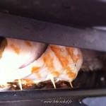 Roulés de dinde aux herbes et aubergine - Couvrir les roulés avec le couvercle du grille-viande et laisser griller.