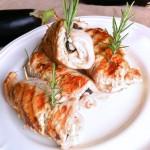 Roulés de dinde aux herbes et aubergine - Une recette très simple qui ne manque pas de saveur.