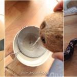 Ananas meringué et ses fruits exotiques - Préparation de La noix de coco.