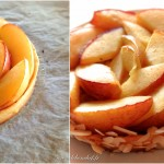 Tarte aux nectarines et perles de groseilles blanches - Lustrer les bords de la tarte encore chaude avec la gelée de groseilles blanches.