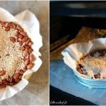 Tarte aux nectarines et perles de groseilles blanches - Recouvrir le fonds de tarte de papier sulfurisé.