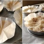 Tarte spirale aux légumes - Recouvrir le fonds de tarte de papier sulfurisé.