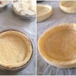 Tarte spirale aux légumes - fonds de tarte cuit à blanc.