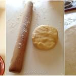 Tarte spirale aux légumes - Prélever 4 ronds de pâte avec un emporte-pièce.
