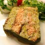 Recette de Terrine de saumon noisettes et poireaux Find thehellip
