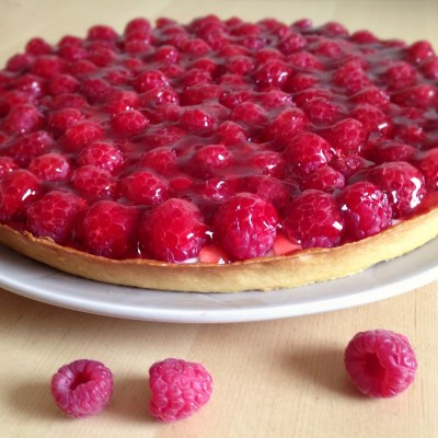 Tarte aux framboises - La tarte aux framboises est le dessert idéal pour clôturer un repas.