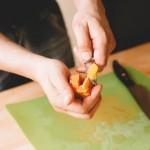 Salade de rougets - Suprême d'orange sanguine. (Photo : Elodie Davis).