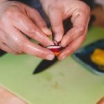 Salade de rougets - Cette décoration est basée sur la recherche et les tests. (Photo : Elodie Davis).