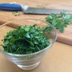 Salade de la mer à l'italienne - Persil plat ciselé grossièrement.