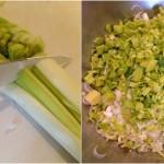 Terrine de saumon, noisettes et poireaux - Utilisez un couteau éminceur bien aiguisé.