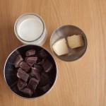 Dark Vador extraordinairement chocolat (Star Wars) - Ingrédients pour le fourrage. (Photo : Elodie Davis).