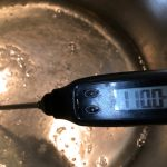 Taralli siciliani - Faire chauffer jusqu'à 110°C pour obtenir un sirop.