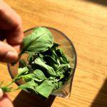 Bruschetta aux saveurs italiennes - Laver le basilic, prélever les feuilles.