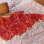 Carpaccio de bœuf à l'italienne – Carpaccio (tranche très fine).