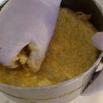 Jus de gingembre - Presser la fibre avec la main (munie d'un gant).