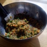 Bouillon de légumes en poudre maison - Quand les légumes sont bien mixés, débarrasser le mélange dans un saladier.