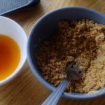 Poulet en crapaudine au citron et au chorizo - Jus de cuisson.