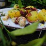Salade de poulpe de roche - Cette salade terre/mer, est parfaite en entrée, voire en plat principal, à condition d'augmenter les quantités.